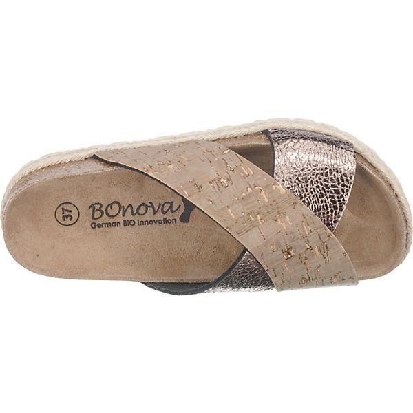 BOnova BOnova Mainzes Pantoletten beige-kombi