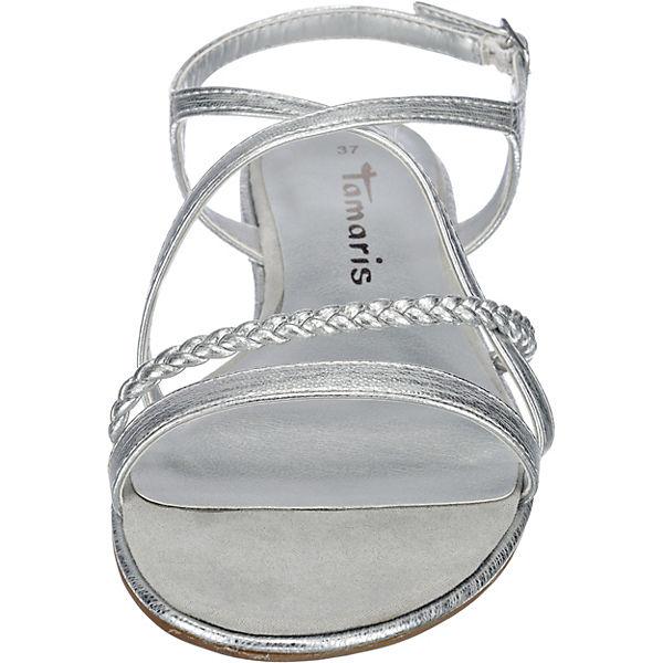 tamaris tamaris irene sandaletten silber mirapodo. Black Bedroom Furniture Sets. Home Design Ideas