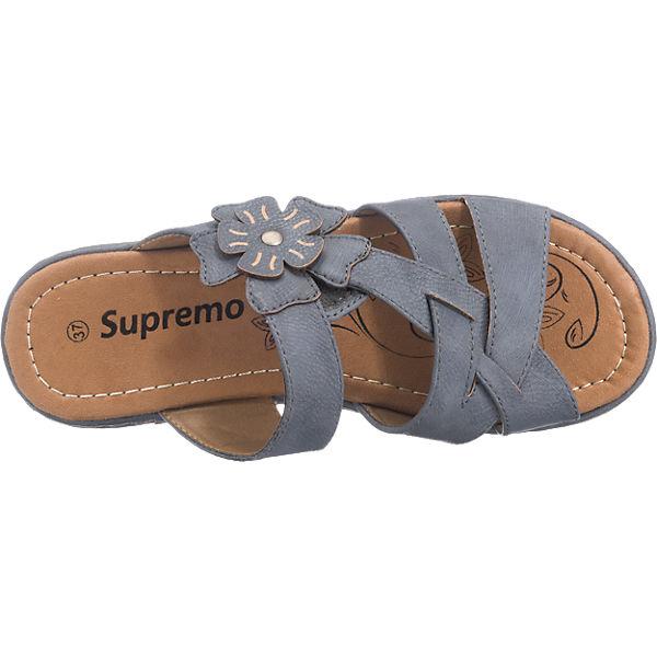 Supremo Supremo Pantoletten blau
