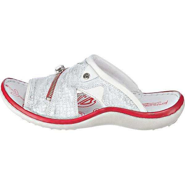 Krisbut, Komfort-Pantoletten, weiß-kombi Qualität  Gute Qualität weiß-kombi beliebte Schuhe 1cbb73