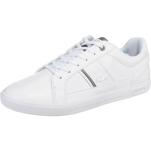 heiße Angebote verschiedene Stile Neuankömmling LACOSTE, Europa Sneakers Low, weiß