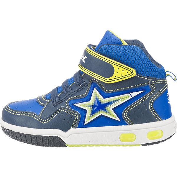 GEOX Sneakers High Blinkies für Jungen, Stern dunkelblau