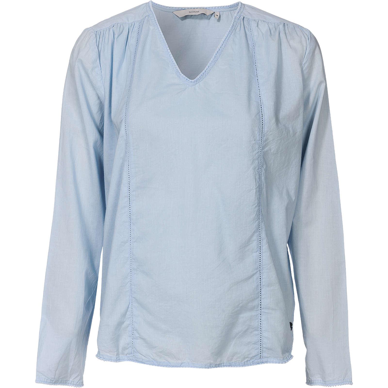 nümph Bluse blau Damen Gr. 40