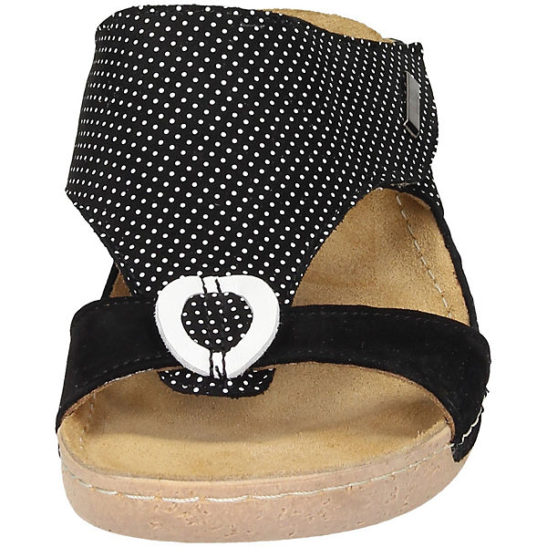 Manitu, Manitu Gute Pantoletten, schwarz-kombi  Gute Manitu Qualität beliebte Schuhe 42ea44