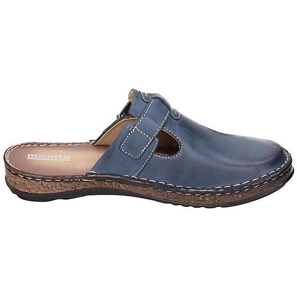 Manitu, Manitu Clogs, blau  Schuhe Gute Qualität beliebte Schuhe  3c4347
