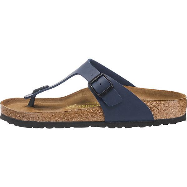 BIRKENSTOCK Gizeh Komfort-Pantoletten blau