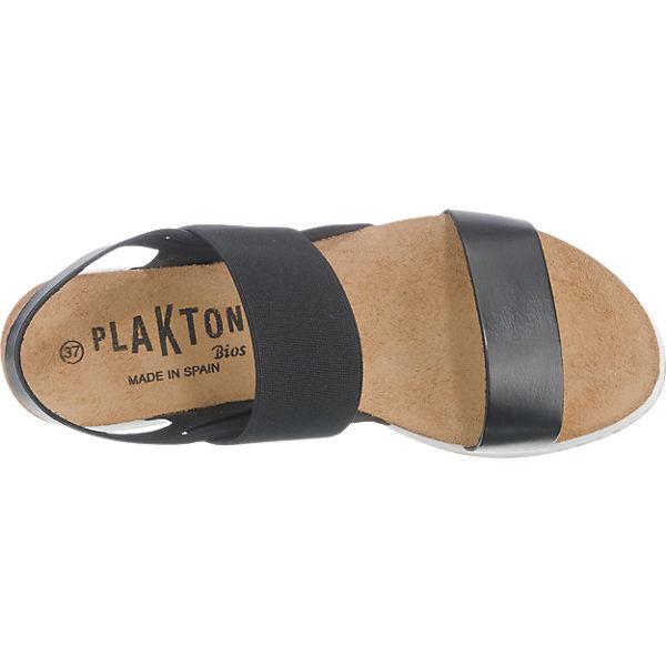 Plakton Plakton Sandaletten schwarz
