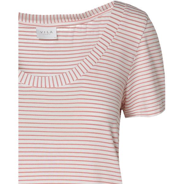 rosa rosa T T Shirt T Shirt VILA weiß VILA weiß VILA Shirt vXxUw