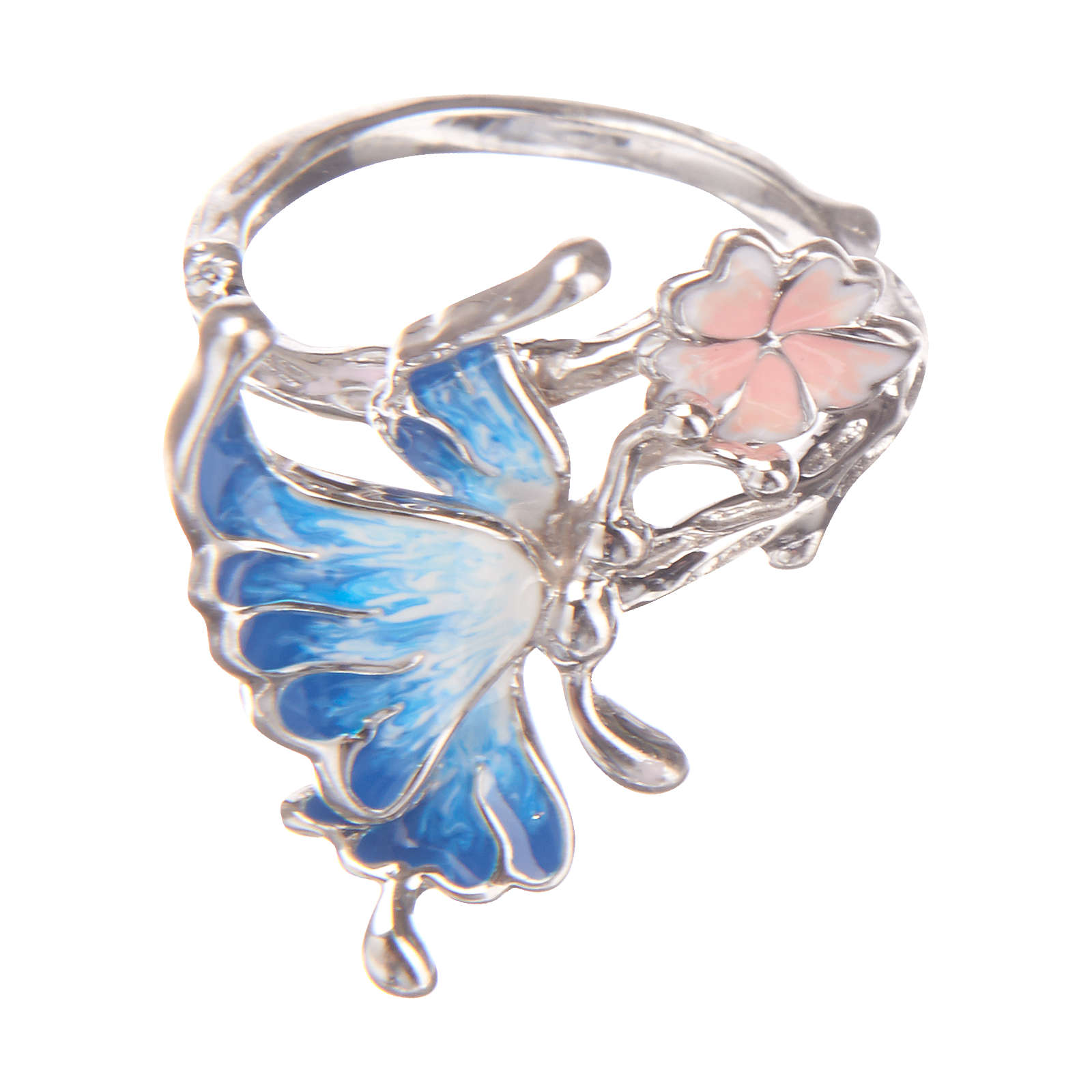 Janusch Kinder Ring mit Schmetterling hellblau ...