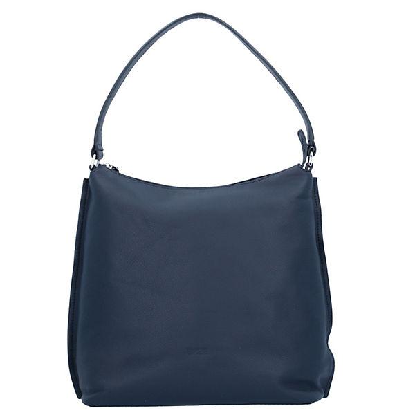 Bree Toulouse 4 Schultertasche Leder 30 cm blau