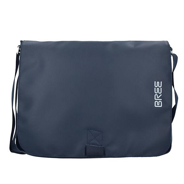 Bree Punch 49 Messenger Schultertasche 38 cm Laptopfach blau