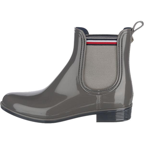 TOMMY HILFIGER, TOMMY HILFIGER Odette Stiefeletten, dunkelgrau  Gute Qualität beliebte Schuhe