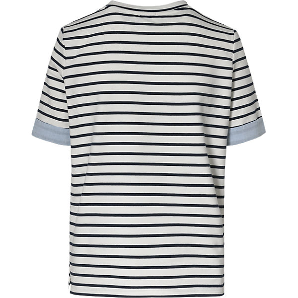 weiß Shirt Shirt pieces blau T pieces T blau aq0Zdwxw