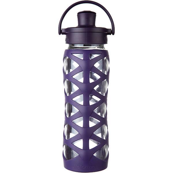 lifefactory trinkflasche glas auberine active flip cap 650 ml mirapodo. Black Bedroom Furniture Sets. Home Design Ideas