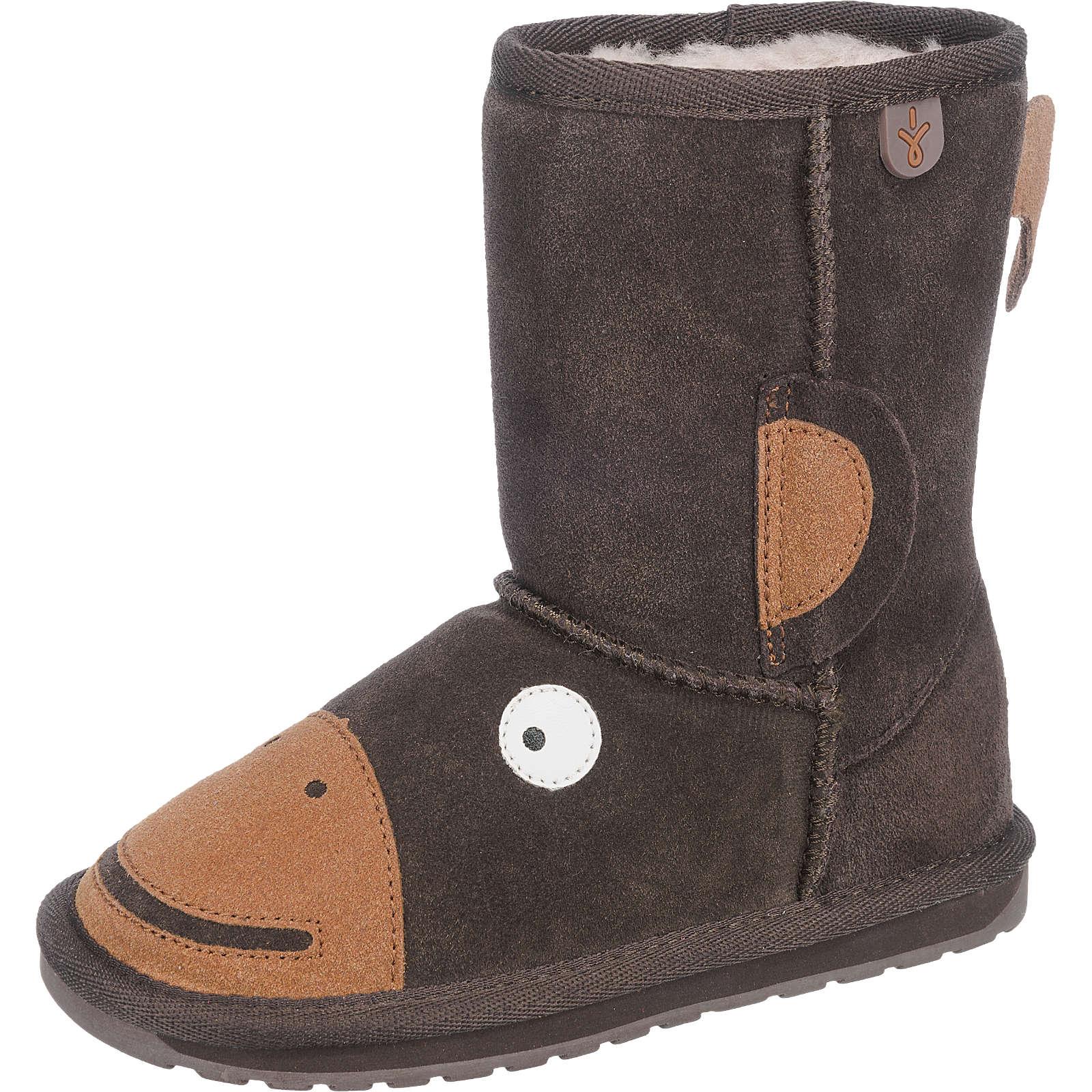 EMU Australia Kinder Winterstiefel Monkey Tail dunkelbraun Gr. 33/34 - broschei