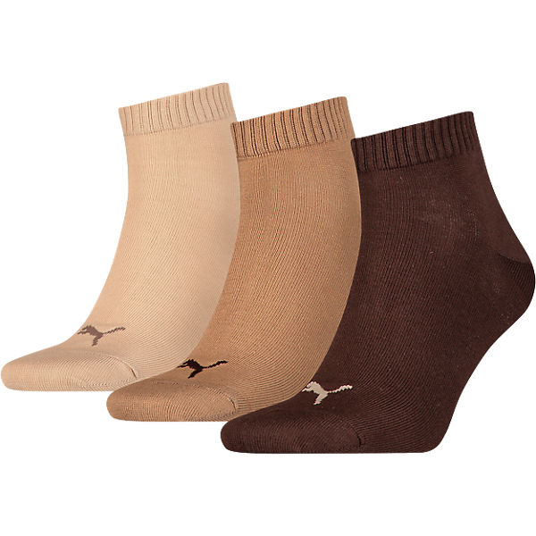 Puma 3 Paar Braun Socken Sneaker MGSzLUpqV