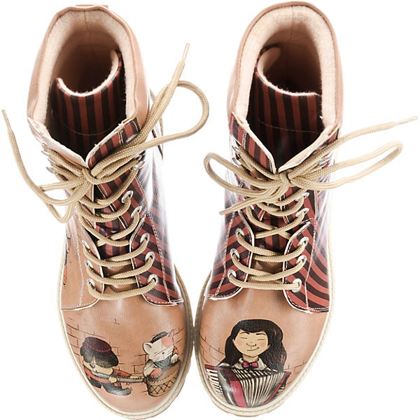 Belleville Dogo Schnürstiefel kombi Circus Orchestra rot Shoes Aw5Uqxz