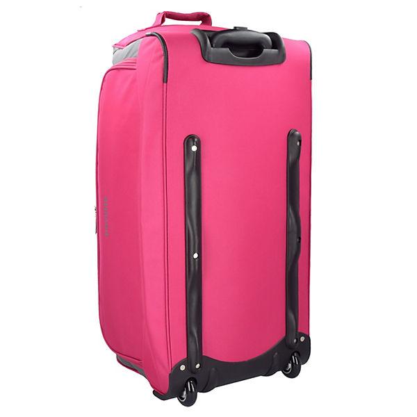 Travelite Garda Pop XL Reisetasche groß mit Rollen Damen und Herren mit Trolley-Funktion 72 cm pink