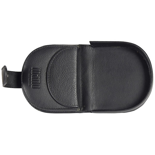 mano Medio Geldbörse Schüttelbörse Leder 8,5 cm schwarz