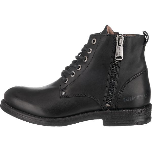 REPLAY REPLAY Metic Stiefeletten schwarz  Gute Qualität beliebte Schuhe