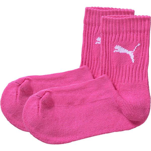 PUMA Kinder Socken 3er-Pack für Mädchen pink