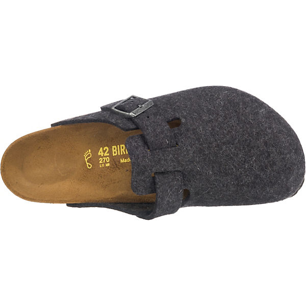BIRKENSTOCK, Boston weit Pantoletten, beliebte anthrazit  Gute Qualität beliebte Pantoletten, Schuhe 3d499b