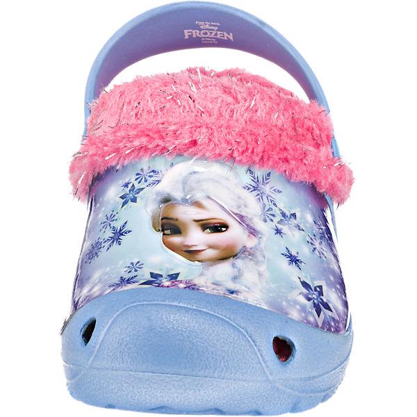 Disney Die Eiskönigin Clogs für Mädchen, gefüttert blau