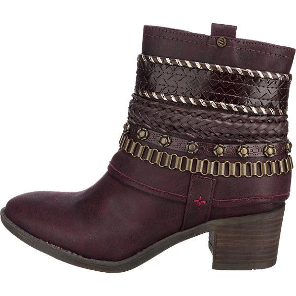 BULLBOXER, BULLBOXER Stiefeletten, bordeaux  Gute Qualität beliebte Schuhe