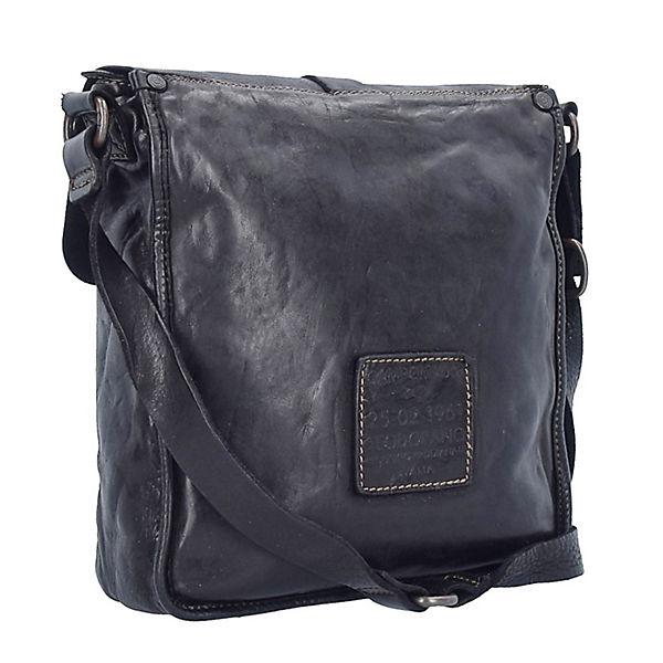 Campomaggi Assenzio Umhängetasche Leder 28 cm schwarz