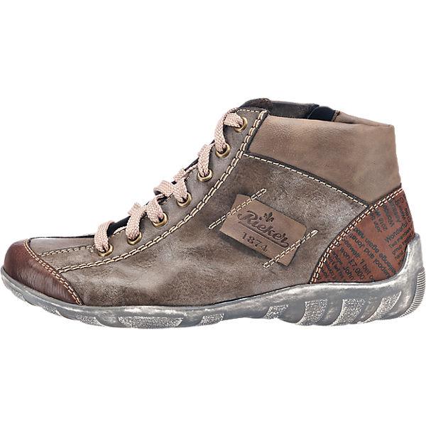 rieker, rieker Stiefeletten, braun-kombi  Gute Qualität beliebte Schuhe