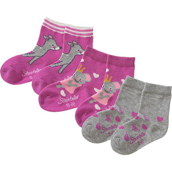 Sterntaler Socken 3er-Pack für Mädchen lila