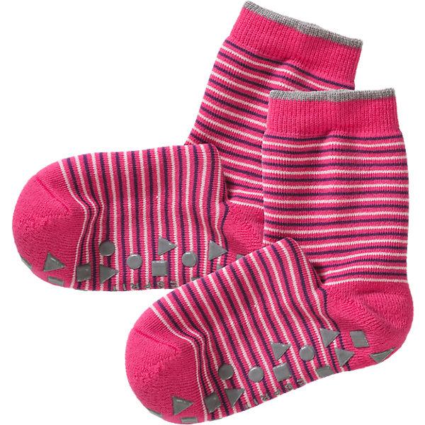 Schipkau Hörlitz Angebote ESPRIT ABS Haussocken für Mädchen, geringelt pink Mädchen Gr. 39-42