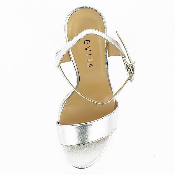 Shoes Evita Sandaletten Evita silber Shoes gww6xq