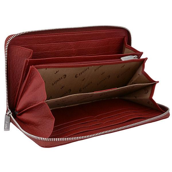 Esquire Deer Geldbörse Leder 19 cm schwarz