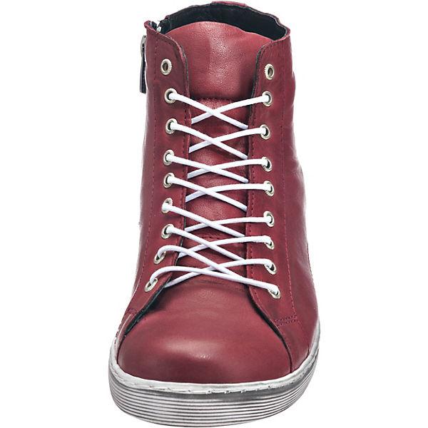 Andrea Conti, Schnürstiefeletten, bordeaux  Schuhe Gute Qualität beliebte Schuhe  3ca842