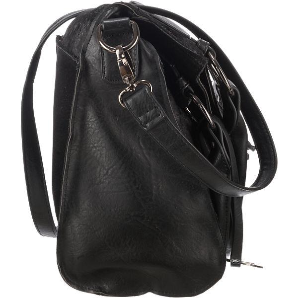 remonte Horsefoil Handtasche schwarz-kombi