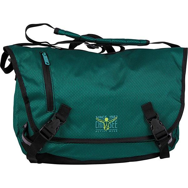 CHIEMSEE Messenger Large Umhängetasche 41 cm Laptopfach dunkelgrün