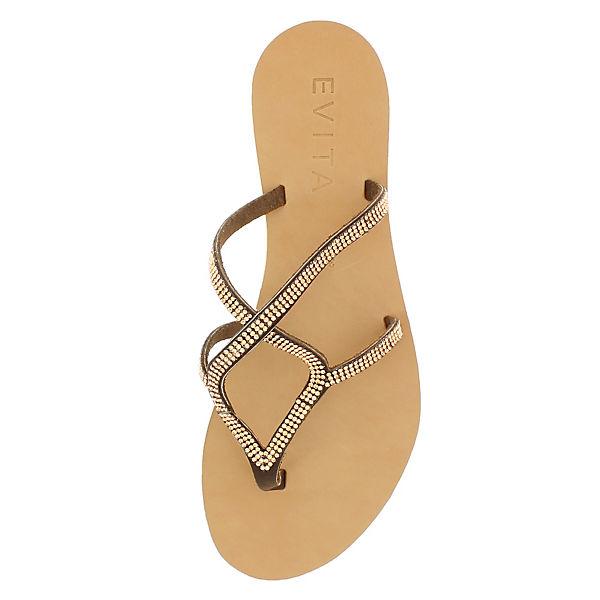 Evita Shoes Evita Shoes Sandalen dunkelbraun