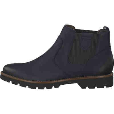 f27c116a148e88 Stiefeletten in blau aus Leder günstig kaufen