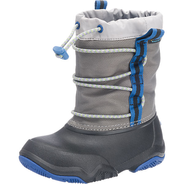 more photos 61aff 6267d crocs, Winterstiefel Swiftwater Waterproof Boot für Jungen, gefüttert, grau