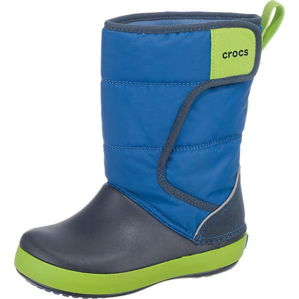 crocs winterstiefel lodgepoint snowboot f r jungen gef ttert blau mirapodo. Black Bedroom Furniture Sets. Home Design Ideas