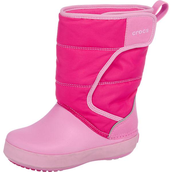 crocs Winterstiefel LodgePoint Snowboot für Mädchen, gefüttert pink