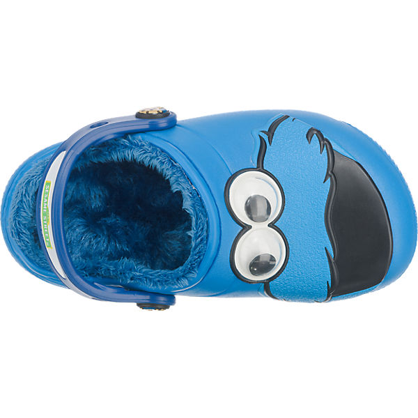crocs Kinder Clogs Sesamstraße Krümelmonster, gefüttert blau