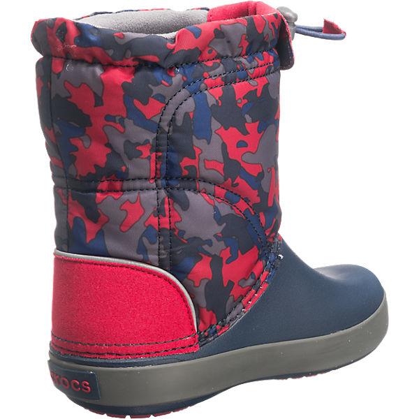 crocs winterstiefel crocband lodgepoint boot f r jungen gef ttert dunkelblau mirapodo. Black Bedroom Furniture Sets. Home Design Ideas