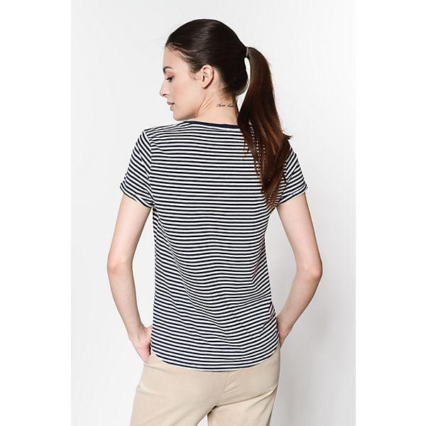 dunkelblau TAILOR Shirt T TOM Denim wzIYSqqT
