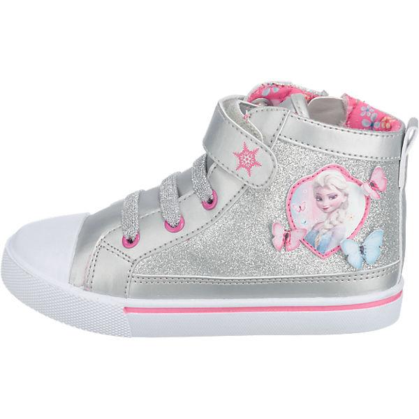 Disney Die Eiskönigin Sneakers High für Mädchen silber