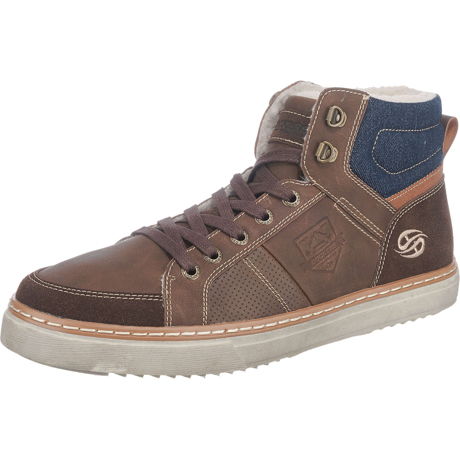 Dockers by Gerli Sneakers braun-kombi Herren Gr. 42