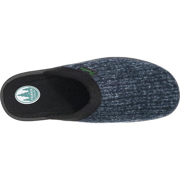 Franken-Schuhe Franken-Schuhe Hausschuhe weit dunkelblau