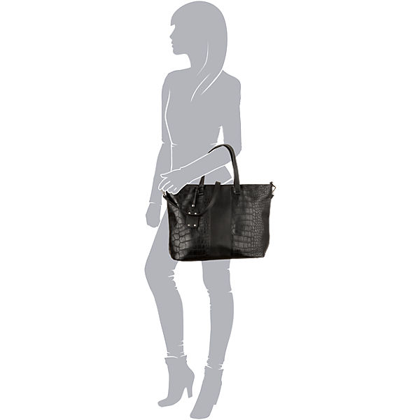 BUFFALO Shopper schwarz