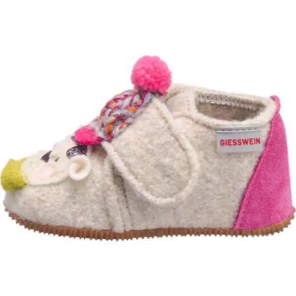 Giesswein Baby Hauschuhe OBERFELL für Mädchen, Bär hellblau